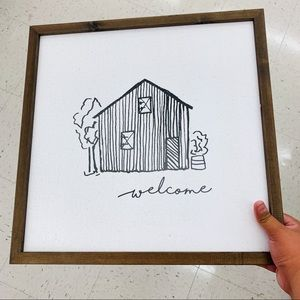 Welcome Wooden Decor